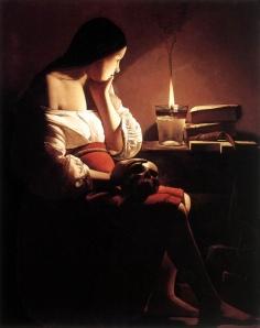 Georges de la Tour, La Madeleine à la veilleuse, 1640, Los Angeles County Museum of Art, Los Angeles