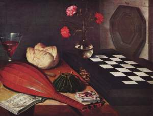 Lubin Baugin, La Nature Morte à l'Èchiquier ou Les Cinq Sens, XVIIe siecle